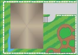 Irrigação de terrenos menores
