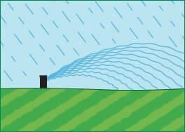 Borrifadores ligam durante tempo chuvoso